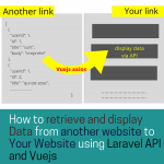 How to retrieve and display Data from another website using Laravel API and Vuejs